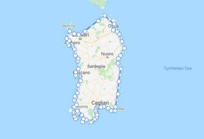 Sardynia, dookoła wyspy, rower + namiot